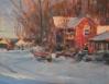 Barn In Snow