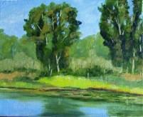 Pond & Trees