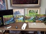 Heiner painting workshop group paintings Mar 8