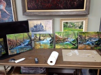 Heiner painting workshop group paintings Mar 8