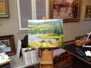 Heiner workshop 6 Heiner's painting  Nov 2014