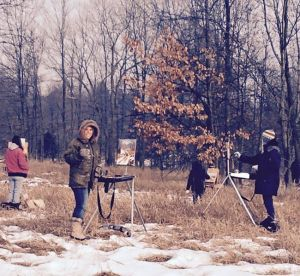 plein air Tami, Heiner & Others March 2015
